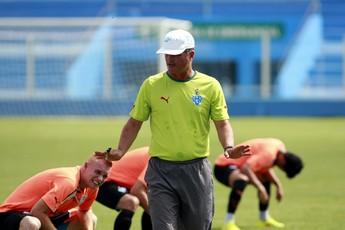 Mazola Júnior durante treino do Paysandu (Foto: Tarso Sarraf/O Liberal)