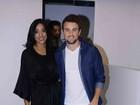 Ex-BBBs Rafael e Talita participam de evento em São Paulo