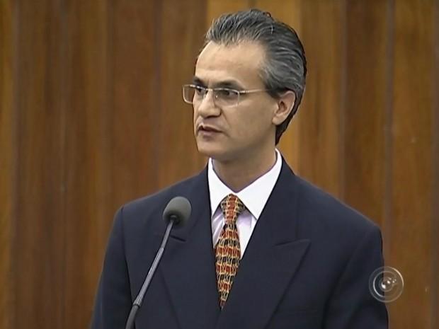 Secretario de Saúde de Itapetininga, Denilson Rodrigues da Silva (Foto: Reprodução/ TV TEM)