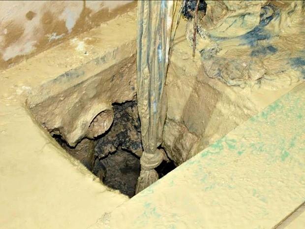 Túnel foi encontrado nesta segunda-feira (20), no Compaj (Foto: Divulgação/ Seap)