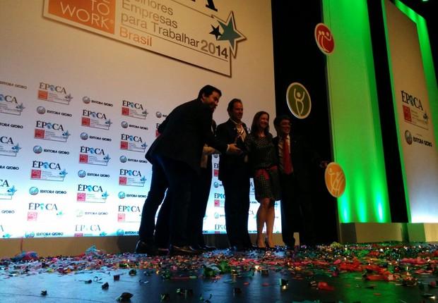 Google recebe o GPTW 2014 como melhor empresa para trabalhar na categoria Médias Multinacionais (Foto: ÉPOCA)