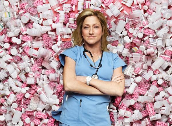 Edie Falco em 'Nurse Jackie' (Foto: Divulgação)