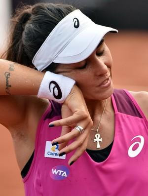 Paula Gonçalves contra Shelby Rogers no Aberto do Rio (Foto: Fotojump)