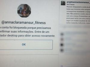 Perfil de 'mini musa fitness' foi bloqueado pelo Instagram (Foto: Reprodução/Instagram)