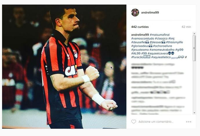 André Lima Atlético-PR (Foto: Reprodução/Instagram)