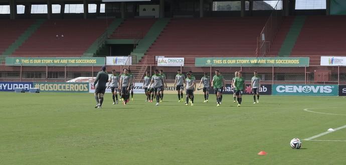 Média de idade dos Socceroos é de apenas 25,7 anos (Foto: Richard Pinheiro/GloboEsporte.com)