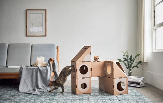 Sistema modular permite montar uma verdadeira cidade para o seu gato (Foto: Divulgação)