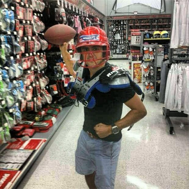 Felipe Massa de quarterback, jogador de futebol americano (Foto: Getty Images)