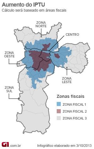 Zonas fiscais (Foto: Arte/G1)