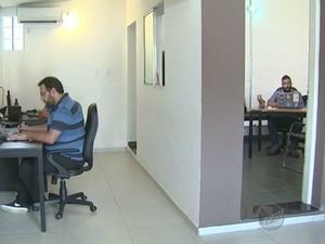 Ambiente de trabalho em Campinas (Foto: Reprodução/EPTV)