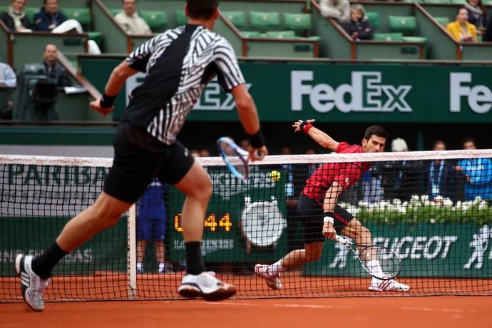 Novak Djokovic Tomas Berdych Roland Garros (Foto: Getty Images)