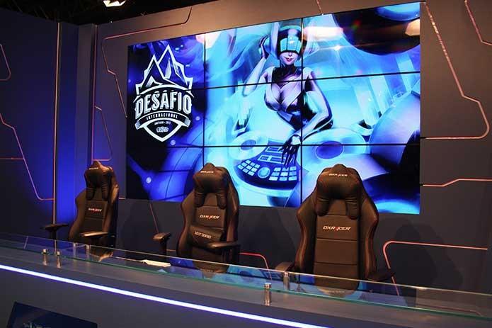 Desafio Internacional de League of Legends teve sua primeira fase no estúdio da Riot (Foto: Reprodução/Felipe Vinha)