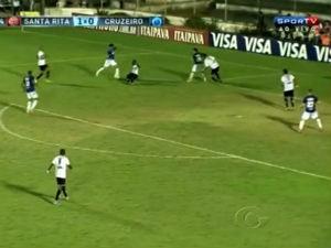 Santa Rita recebeu o Cruzeiro em Arapiraca (Foto: Reprodução/ TV Gazeta)