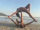 Carol Nakamura e Aislan Lottici mostram elasticidade em exercício