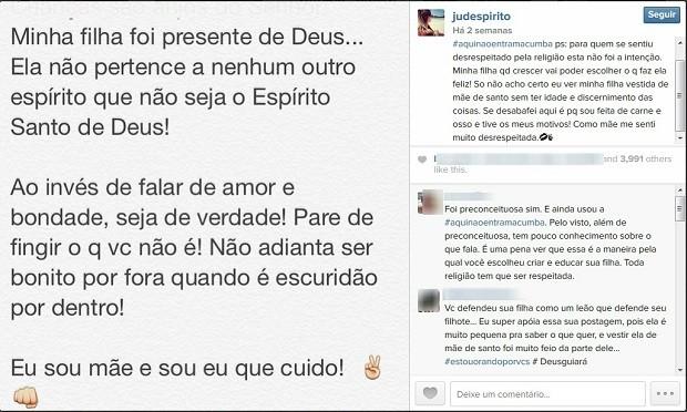 Juliana Despírito critica publicação de ator Henri Castelli (Foto: Reprodução/Instagram)