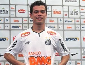 Bernardo, apresentação no Santos (Foto: Marcelo Hazan / Globoesporte.com)