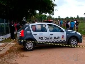 Corpo de jovem foi achado perto de fábrica de tecidos em São José de Mipibu (Foto: Reprodução/Inter TV Cabugi)