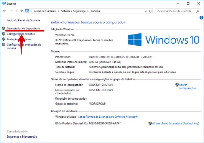 Acessando o Gerenciador de Dispositivos do Windows (Foto: Felipe Alencar/TechTudo)