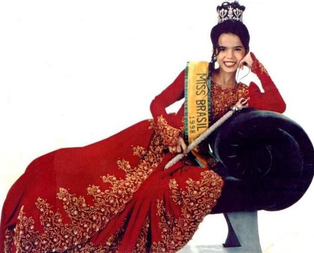 Aos 12 anos, Brendha foi Miss Brasil Infantil (Foto: Arquivo pessoal)