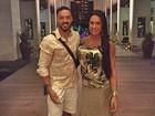 Nas Bahamas, Belo e Gracyanne Barbosa têm noite romântica
