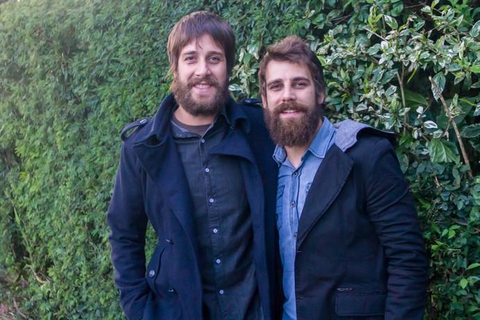 Raoni e Rainê da banda Valente Superstar (Foto: Maicon Hinrichsen/RBS TV)