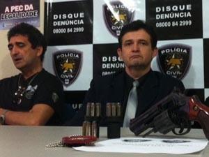 Delegados Laerte Brasil e Ricardo Sérgio (Foto: Igor Jácome/G1)