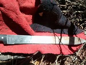 Arma que teria sido usada no crime (Foto: Divulgação/PM)
