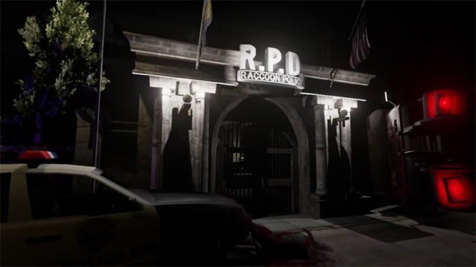 Cenário perfeitamente reproduzido de Resident Evil 2 é todo modelado em 3D (Foto: Reprodução/YouTube)