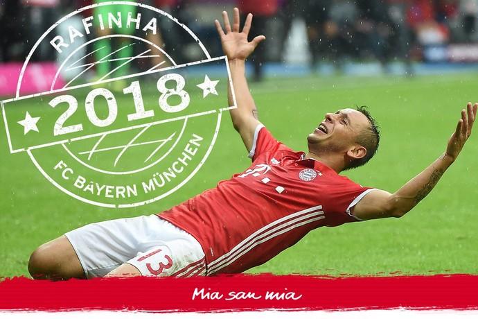 Rafinha renova contrato com o Bayern de Munique (Foto: Divulgação / Bayern de Munique)