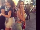 Andressa Urach posa para fotos em Nova York: 'Perigo, cheguei!'