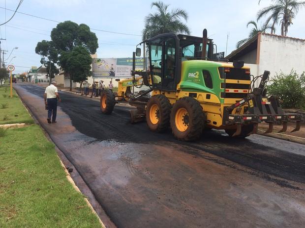 Avenida Brasil de Pederneiras foi liberada após 11 dias de interdição (Foto: Divulgação)