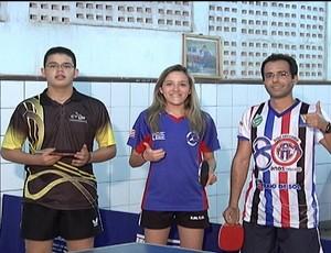 Três atletas de tênis de mesa do Maranhão concorrem ao Troféu Mirante Esporte 2012 (Foto: Reprodução/TV Mirante)