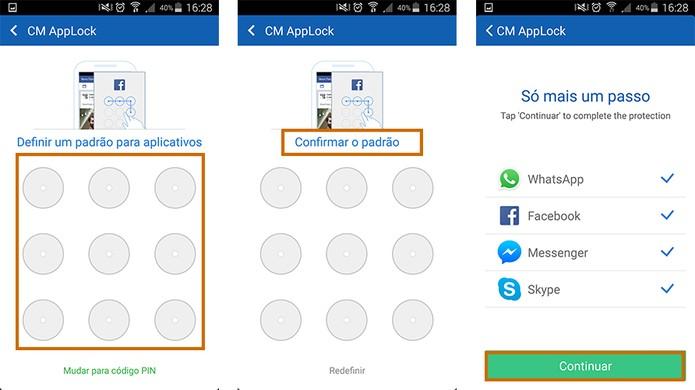 Adicione o código personalizado de acesso e selecione os apps que deseja proteger (Foto: Reprodução/Barbara Mannara)