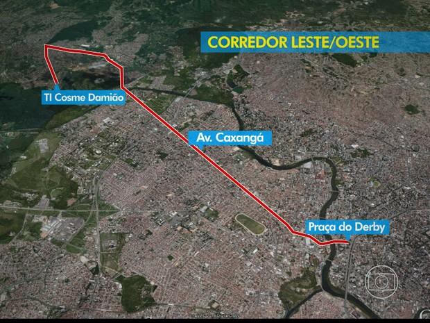 Corredor Leste-Oeste (Foto: Reprodução / TV Globo)