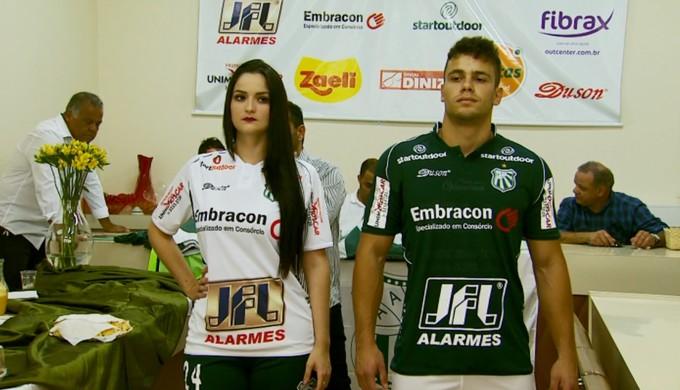 39e69e3996 uniformes Caldense  temporada 2017 (Foto  Reprodução EPTV Marcelo Rodrigues)