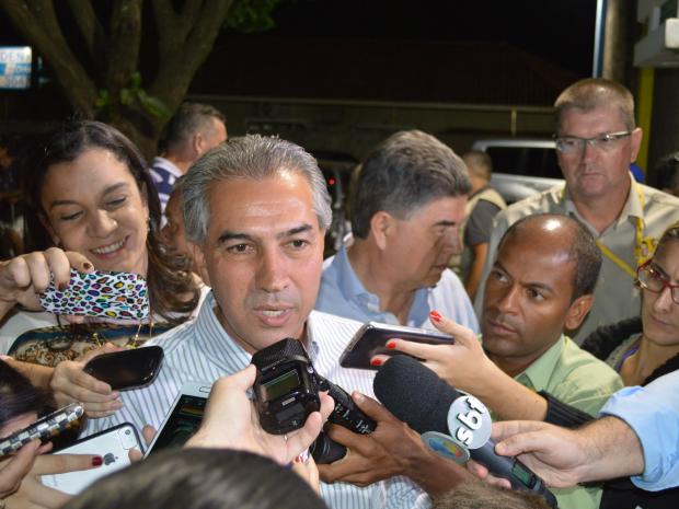 Reinaldo Azambuja vai para 2º turno (Foto: Anderson Viegas/ G1MS)