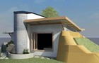 Arquiteto constroi casa com pneus  (Divulgação)