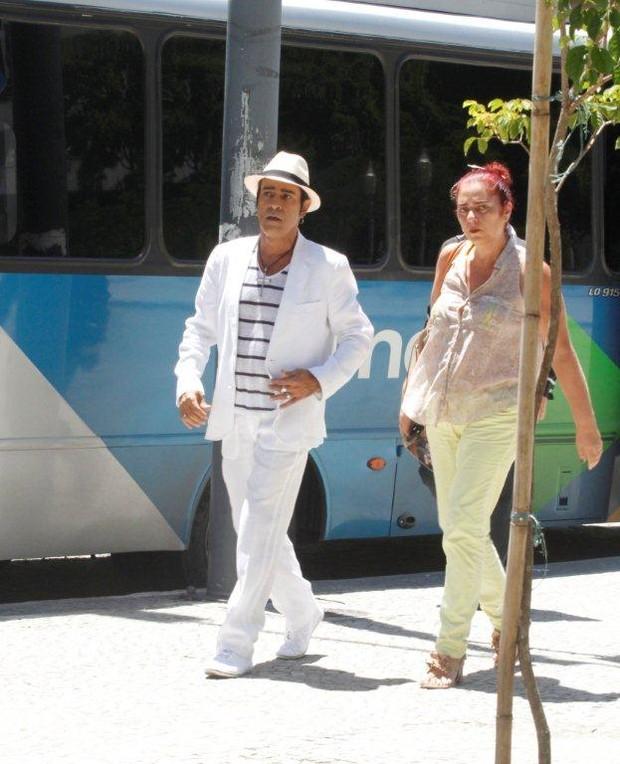 "Elimar Santos grava ""Salve Jorge"" (Foto: Onofre Veras / AgNews)"
