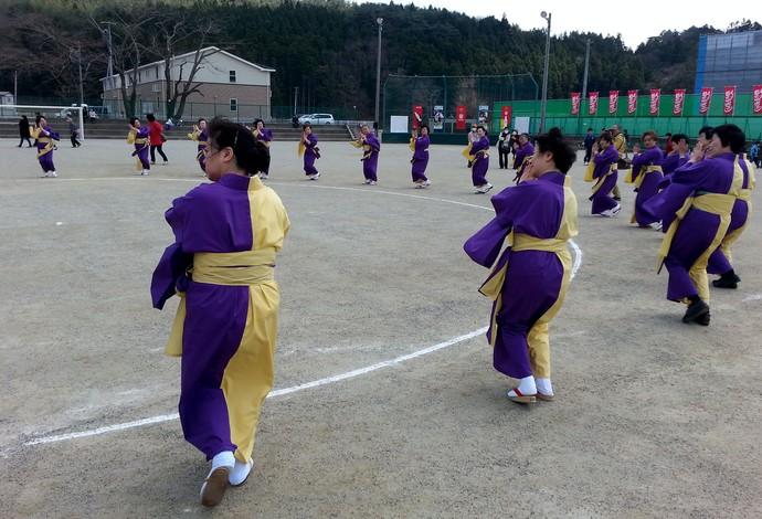 Dança típica do Chao-Chao (Foto: Rodrigo Faber)