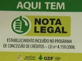 Cartaz do programa Notal Legal, do Distrito Federal (Foto: TV Globo/ Reprodução)