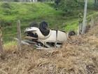 Cinco pessoas saem ilesas após fusca capotar em rodovia na Bahia