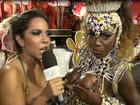 Vídeo: Mulher Melão faz 'blitz' e fiscaliza corpos de musas na Sapucaí