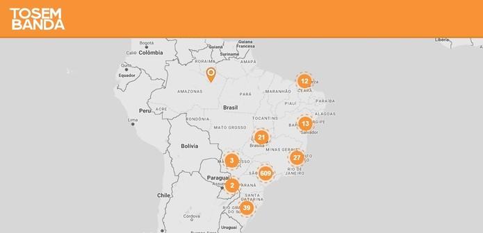Plataforma tem mais usuários nas regiões sudeste e centro-oeste (Foto: Divulgação/ToSemBanda)