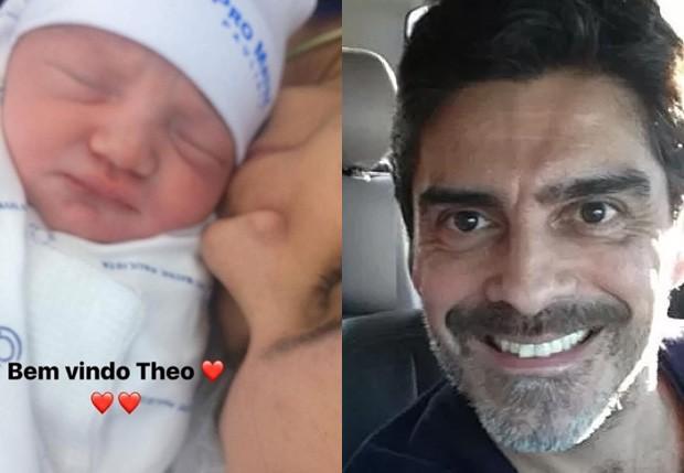Junno Andrade celebra nascimento do neto, Theo (Foto: Reprodução/Instagram)