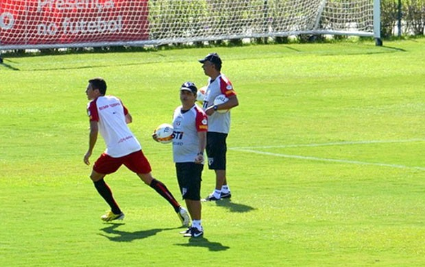 Ney Franco no treino do São Paulo (Foto: Divulgação / saopaulofc.net)