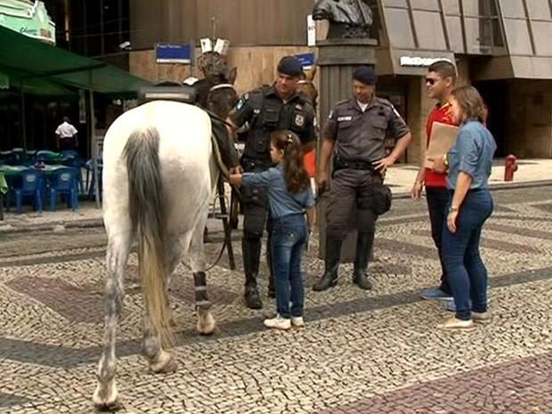 Onda de assaltos preocupa pedestres no Centro (Foto: Reprodução/TV Globo)