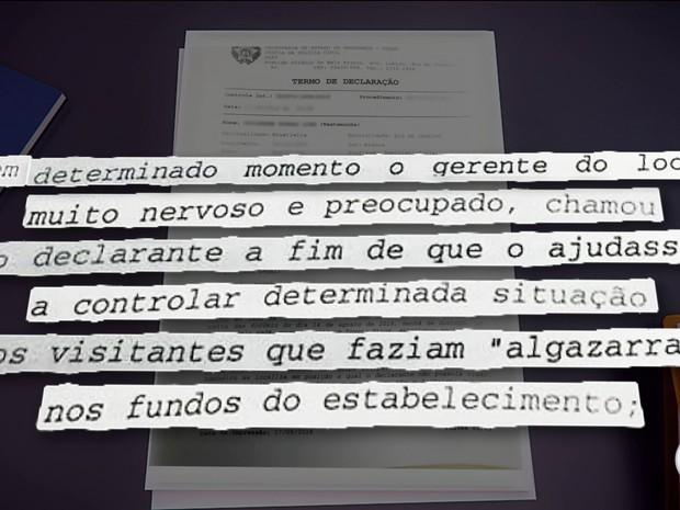 Depoimento de seguranças foi fundamental para polícia concluir que não houve assalto (Foto: Reprodução/Globo)