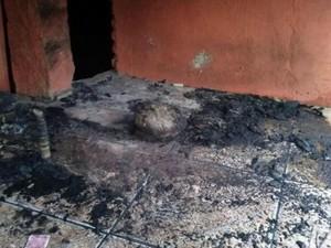 Incêndio casa Patrícia Moreira gremista Porto Alegre (Foto: Arquivo Pessoal)