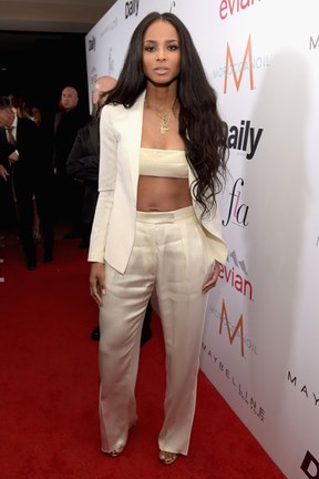 Ciara em evento em Los Angeles, nos Estados Unidos (Foto: Jason Kempin/ Getty Images/ AFP)