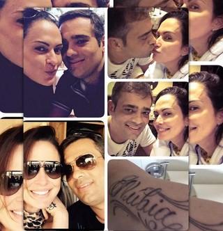Núbia Ólliver com o namorado, Paulo Santana (Foto: Reprodução/Instagram)
